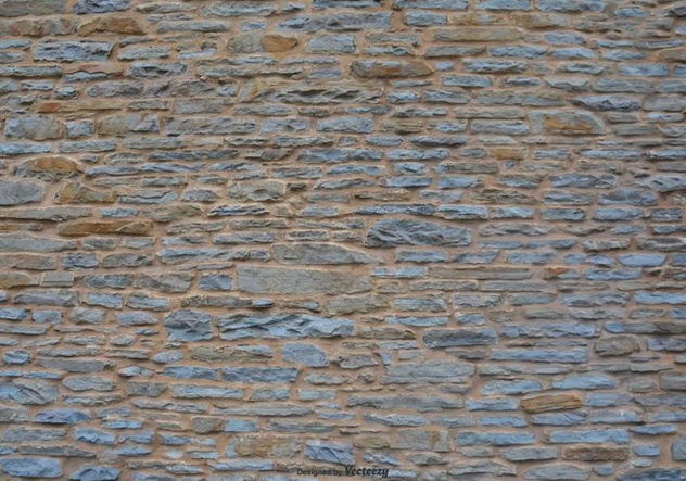 Stone Wall Vector Background - Free vector #412939