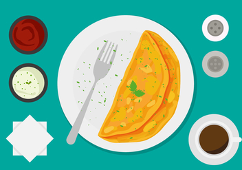 Free Omelet Vector - Free vector #412989