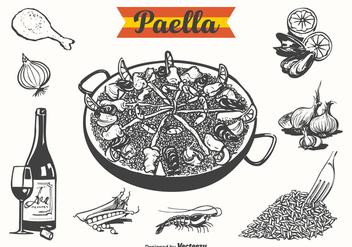 Free Paella Drawn Vector Illustration - Kostenloses vector #413409