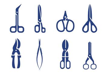 Scissors vector - Free vector #413439
