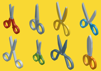 Free Scissors Icons Vector - vector gratuit #413479