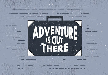 Free Hand Drawn Travel Suitcase With Typography - бесплатный vector #413549