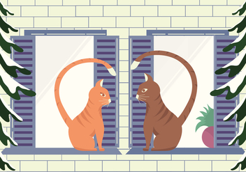 Free Vector Cats - Free vector #413599