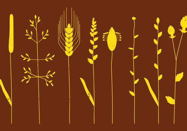 Coastal Grasses Silhouettes - Free vector #413629