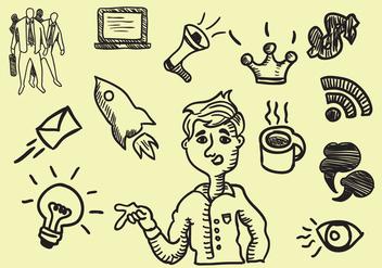 Storytelling Handrawn Icon - Free vector #413829