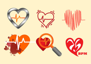 Free Heart Rate Vector Illustration - Kostenloses vector #414069