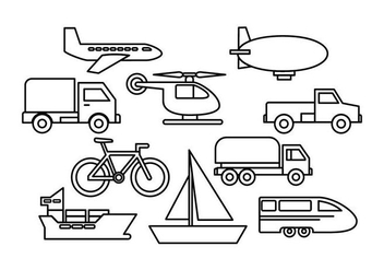 Free Transportation Vectors - бесплатный vector #414289