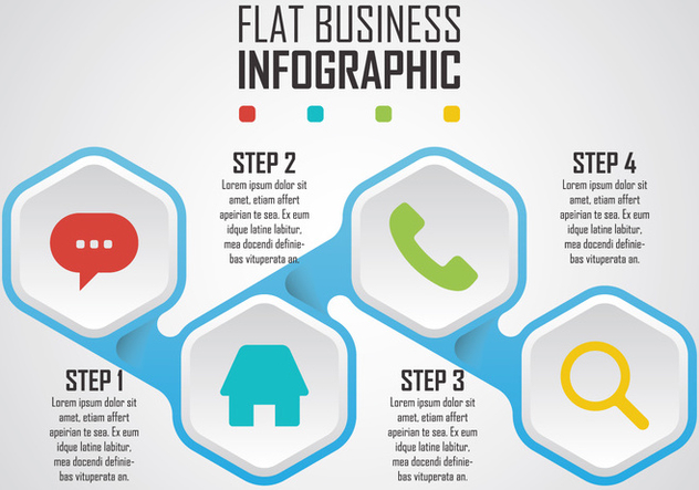 Flat Business Infographic - Free vector #414319