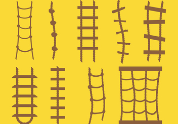 Free Rope Ladder Icons Vector - vector gratuit #414329