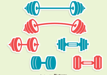 Dumbell Icons Vector Set - vector #414389 gratis