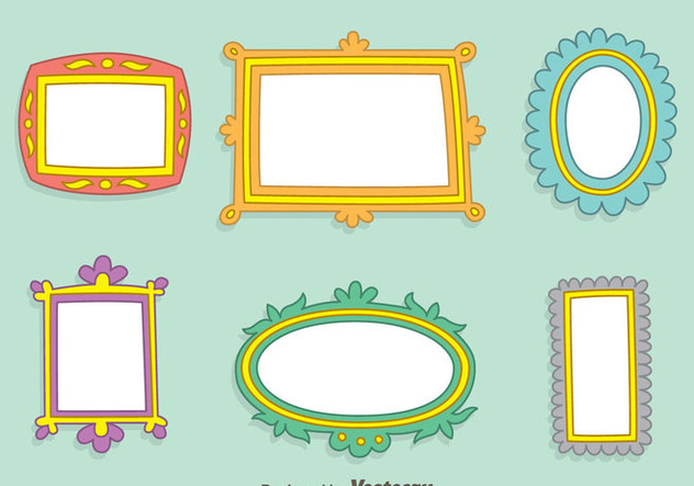 Hand Drawn Frame Vector Set - Free vector #414399