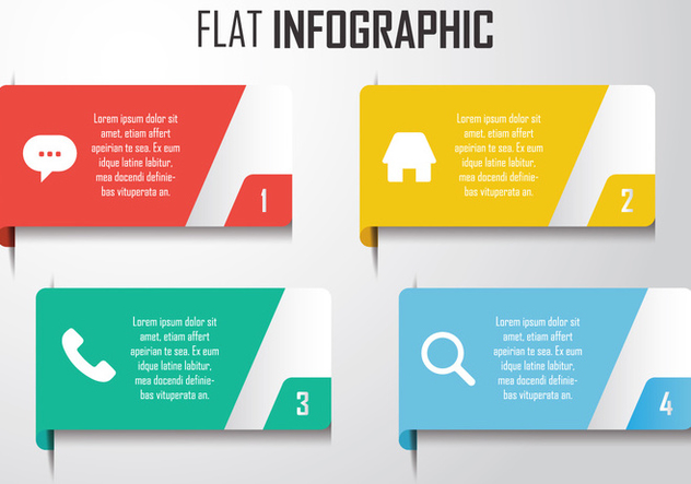 Modern Infographic Elements - Free vector #414429