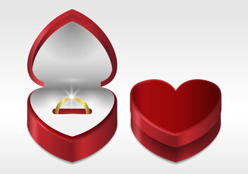Free Realistic Ring Box Vector - Free vector #414469