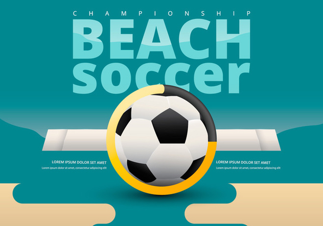 Beach Soccer Championship Team Versus Template - Free vector #414479
