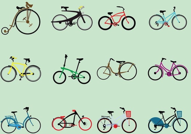 Set Of Various Kinds Of Bicycle - Free vector #414539