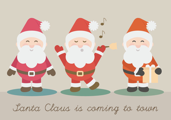 Vector Santa Claus Illustration - бесплатный vector #414599