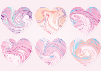 Vector Marble Hearts Collection - vector gratuit #414669