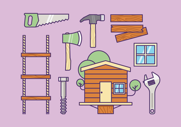 Free Treehouse Supply Kit Vector - бесплатный vector #414709