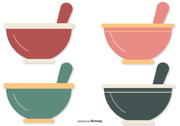 Flat Style Mixing Bowls - vector gratuit #414749