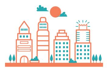 Austin City Landscape - vector gratuit #414829