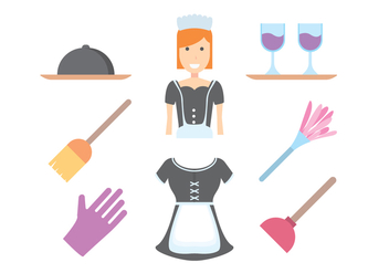 Free French Maid Vector - Free vector #414849