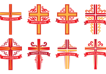 Easter Crosses - vector gratuit #414889
