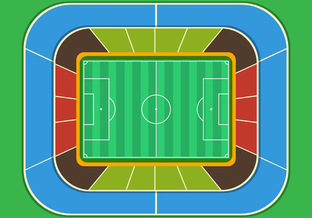 Football Ground Stadium Top View - Free vector #414899