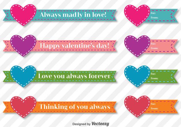 Valentine Days Vector Ribbons - vector #414919 gratis