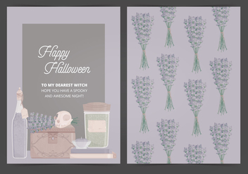 Vector Halloween Card - vector gratuit #414959