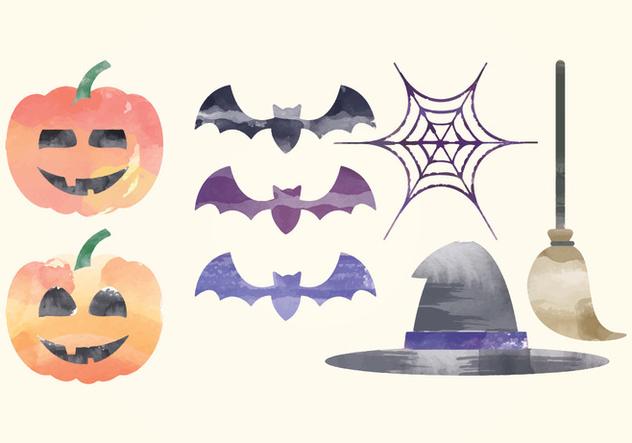 Vector Halloween Watercolor Elements - vector #414979 gratis