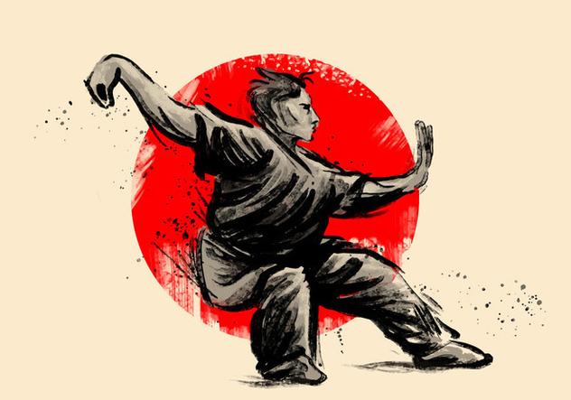 Wushu Poses - vector #415029 gratis