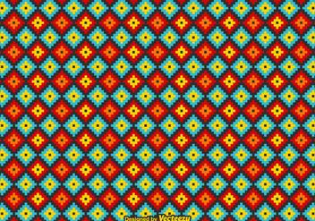 Free Vector Mexican Huichol Pattern - бесплатный vector #415189