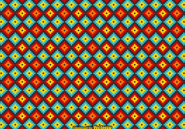 Free Vector Mexican Huichol Pattern - Free vector #415189