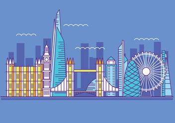 Vector Illustration The Shard and The London Skylane - Free vector #415379