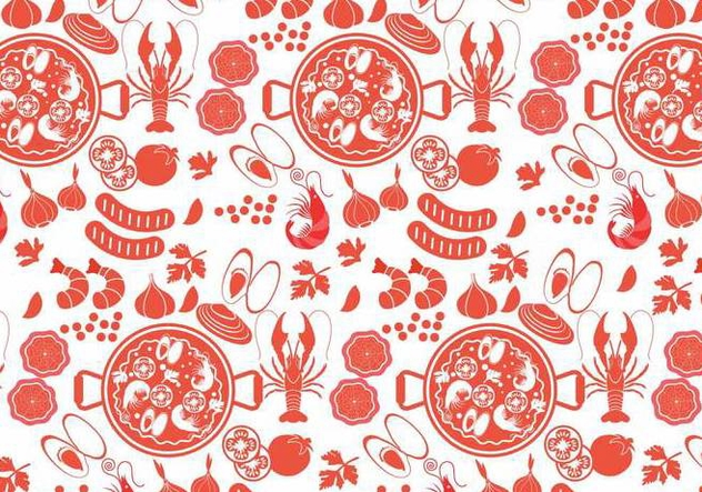 Paella Pattern Vector - Free vector #415519