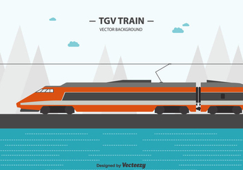Tgv Train Background - vector gratuit #415599