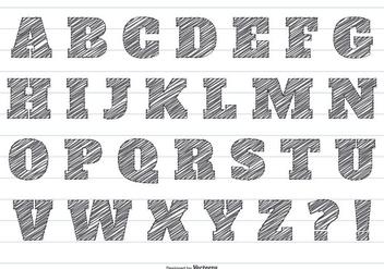 Pencil Scribble Vector Alphabet - Kostenloses vector #415619