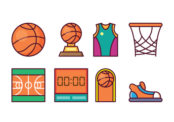 Free Basketball Icon Set - Free vector #415629