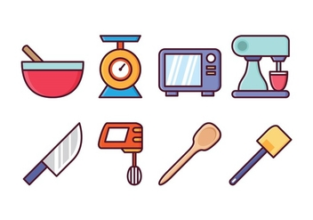Free Kitchen Icon Set - Free vector #415699