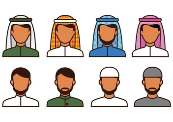 Free Moslem Avatar Icons - vector #415719 gratis