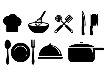 Cooking Icons Vector - vector #415739 gratis