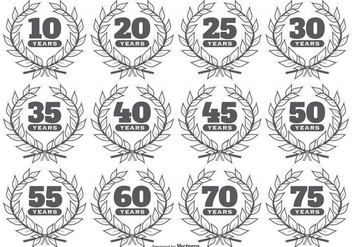 Anniversary Vector Labels - vector gratuit #415829