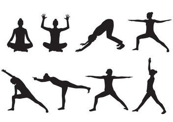 Free Woman Yoga Silhouette Vector - Free vector #415839