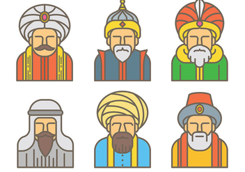 Free Sultan Icons Vector - Free vector #415999