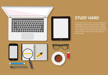 Studying Set Free Vector - Free vector #416489