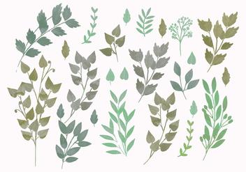 Vector Watercolor Spring Branches - Kostenloses vector #416569
