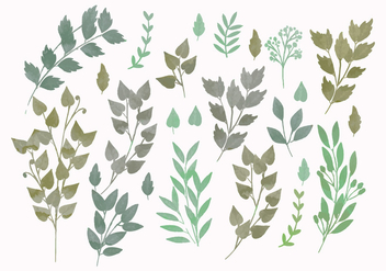 Vector Watercolor Spring Branches - Free vector #416569