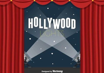 Hollywood Lights Vector Background - Kostenloses vector #416869