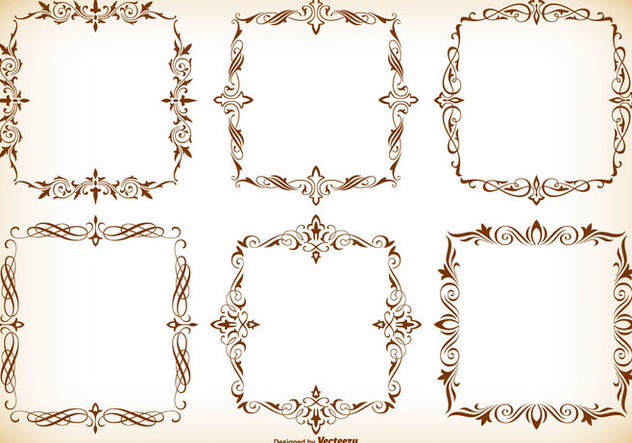 Decorative Frames Collection - vector #416999 gratis