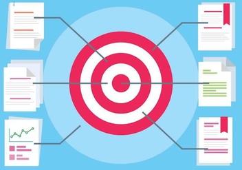 Free Flat Design Vector Target - Kostenloses vector #417129